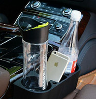 Wholesale 300pcs Car Valet Storage Organizer Black Car Cup Drink Bottle Holder Container Phone Holder Box LJJL128
