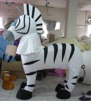 Wholesale adult zebra mascot costumes for person costume