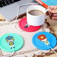 Wholesale Cartoon creative silicone electric Insulation coaster USB warm cup heating device Office Coffee Tea Warmer Pad Mat