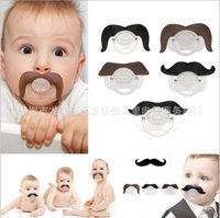 Wholesale Baby girls fake mustache pacifiers baby supplies Halloween Funny bearded Funny pacifier pacifiers