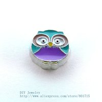 Wholesale New Arrival floating locket charms Attractive FC1334 Owl With Best Design for glass locket charm As gift for friends Family