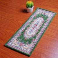 american green rug - Rectangle Non slip Stair Carpets Mats High grade Acrylic Floral Door Mats Bedside Sofaside Blankets Rugs for Home