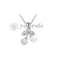 berry necklace - 18K White Gold Plated Cute Opal Berry Pendant Necklace Women s Fashion Jewelry