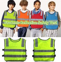 Wholesale New students reflective safety vest reflective safety vest coat Sanitation vest Traffic safety warning clothes vest Safety Vest