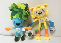 Wholesale Brazil Rio Olympic Games Vinicius And Tom Plush Toy cm Vinicius Stuffed Dolls Cartoon Collective Mascot EMS C947