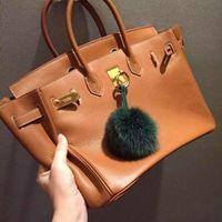 best brand locks - Best Quality Women Genuine togo Leather classic H Bag Fashion Lady lock Handbags handmade Famous Purse Brands Designers cm