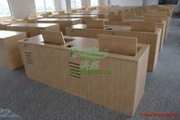 Wholesale Flip computer desk School turnover training table Hidden computer desk bank