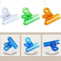 Wholesale 30Pcs Plastic Clips Colorful Office Stationery Paper Clip mm mm mm School Office Supplies Papelaria
