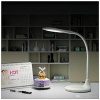 Wholesale New fashion Desk Lamp Table Light Reading lantern Study lamp W Chargeable Black and White V beautiful design via DHL