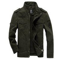 air force cargo - Men cargo jacket military Plus size XL XL army Air force one male clothing Spring Autumn Mens jackets outdoor