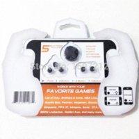 5 en 1 comprimé d'écran tactile contrôleur de jeu Joysticks Thumbies Arcade Joystick Boutons pour iPad pour iPhone 5s 4s + Package Retail
