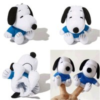 Wholesale 8CM Cute Snoopy Peanuts Plush Toys Snoopy Finger Puppets Play Storytime Toys For Kids