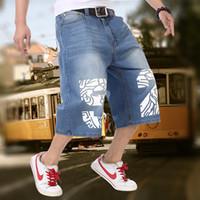 baggy jeans shorts - Baggy Mens Blue Jeans Hip Hop Loose Jeans Men Baggy Denim Breeches Shorts Jeans For Men Summer Men s Capris Big Plus Size