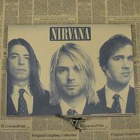 band poster art - Kurt Cobain Nirvana Rock Band Vintage Poster Kraft paper posters
