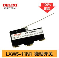 Wholesale DELIXI Micro Switch LXW5 N1 Micro Limit Switch Long Straight Hinge Lever Arm SPDT snap action