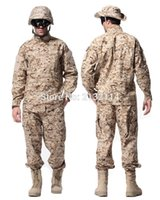 Wholesale Tactical ACU Style Camouflage Uniform Army Combat Outdoor Activities Hunting Clothing Set