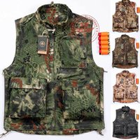 Wholesale Men Outdoor Camping Hunting Camouflage Jungle Quickly Dry CS Vest Outdoors Military Shooting Veste Homme Tactical Men Colete