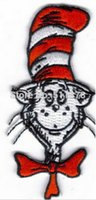 animated cat movies - 3 quot Dr Seuss The Cat In The Hat Animated Movie TV Series Costume Embroidered Emblem iron on patch Cap Badge favor gift