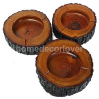 Wholesale Brown Wooden Wood Ashtray Cigarette Tobacco Smoking Ash Tray for KTV Restaurant Pub Bar Home Office Size