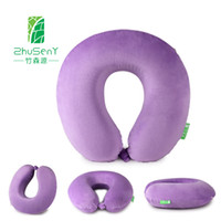 Wholesale U shape memory pillow for driving reading travelling Protect Neck Younger and more Dynamic colorful pillow case MOQ Pieces
