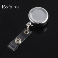 Wholesale Metal Retractable Badge reel Key ID Card Clip Ring ID Badge Lanyard Name Tag Card Holder Recoil Reel Belt Can print logo