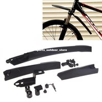 Wholesale Mountain Bicycle Cycling Front Rear Mud Guard Mudguard Set Bike Tire Fender Black Universal H10573