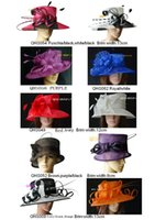 Mixed Color sinamay hat - Sinamay hat church hat ladies hat sell in mix style for races party and wedding BY EMS