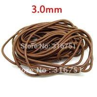 aa coffee - Coffee Round Real Leather Jewelry Cord mm m Length w01778 AA