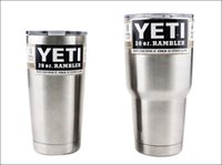 steel water bottles - YETI cup Heat and Cold Preservation Insulation Stainless Steel OZ OZ YETI Cups Cars Large Capacity Mug Tumblerful Dropshipping