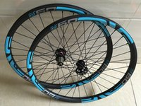 aero bmx - 27 er mtb wheels carbon tubuless mountain bike wheels with Novatec Disc Hub D771 D772 and Aero Spokes