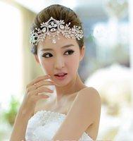 american headdress - bridal tiara headdress frontlet wedding hair accessories crystal hairbands