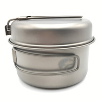Wholesale Boundless Voyage Titanium Pot Outdoor Cookware Set Picnic Pot Camping Pan Cooking Pot Set g Ti1515B