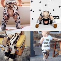 baby tiger photos - Real Photos New baby Girls Boys Pants D Digital Tiger Printed Baby Harem Pants baby Boy Girl Kids Children Trousers