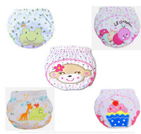 Wholesale Hot Sale Cartoon Baby Waterproof Diaper Pant Potty Training Pants Toddler Panties Newborn Underwear Reusable