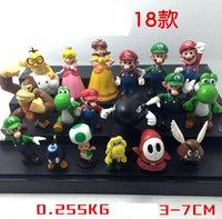 Wholesale Plastic Super Mario Bros PVC Action figures Mario Luigi Yoshi Princess Toys Dolls set YH201