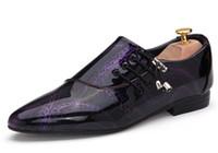 designer shoes - 2016 Designer genuine leather Oxford Shoes for men Pointed Toe men Dress Shoes mens Shoes golden Wedding Shoes D193