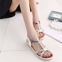 Wholesale hot sell summer women diamond sandals women feeling flat peep toe cool slippers size