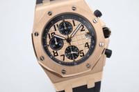 auto battery store - famous store jason007 Luxury Brand watch men Oak Offshore rubber band gold Watch men quartz chronograph watch Mens dive Watches