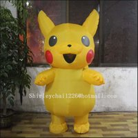 Wholesale New Pikachu Costume for Kids Adult Inflatable Halloween Costumes Mascot Cartoon Character Costumes Mascot Costume Fancy Dress Party