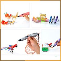 Wholesale Lightest D Printing Pen D Drawing Pen v2 Support ABS PLA Filament With LCD Screen For Kids as Birthday Gift