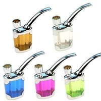 bend acrylic tube - Water Smoking Tobacco Pipe Cigarette Cigar Tube Holder Hookah Filter Smoke Tar h New Hot Sale