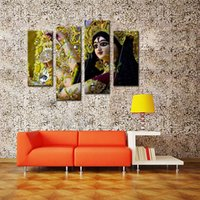 art prints india - 4 Picture Combination Paintings on Canvas Contemporary Art Abstract Paintings Wall Decorations Paintings For Dancers in India