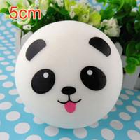 Wholesale 2pcs CM cute Panda Squishy Kawaii Buns Bread Charms Key Bag Cell Phone Straps Charm