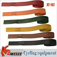 Wholesale New hot RT cycling non slip grips sweatband bike bicycle bicicleta Handlebar Tape Genuine Leather grip tape Handle Belt