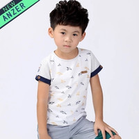 Wholesale The new summer children s short sleeve T shirt Han edition cotton tide Fan Tong t shirts with short sleeves J