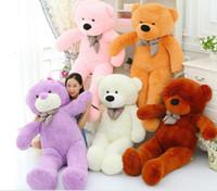 Wholesale 2016 FEET TEDDY BEAR STUFFED LIGHT BROWN GIANT JUMBO quot size cm