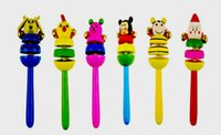 baby products market - A bell cartoon animals The baby hand bell The night market sell like hot cakes baby products Wooden toys