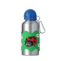 aluminium drink bottles - Children Water Bottles D PVC Embossed Insect Aluminium Alloy With Lid Drinking Bottle For Kids Sport