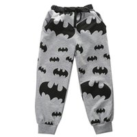 Wholesale 2016 New Boys Casual Pants Kids Cartoon Batman Trousers Children Clothes Y