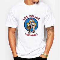 bad t shirts - Men s Fashion Breaking Bad Shirt LOS POLLOS Hermanos T Shirt Chicken Brothers Short Sleeve Tee Hipster Hot Sale Tops
